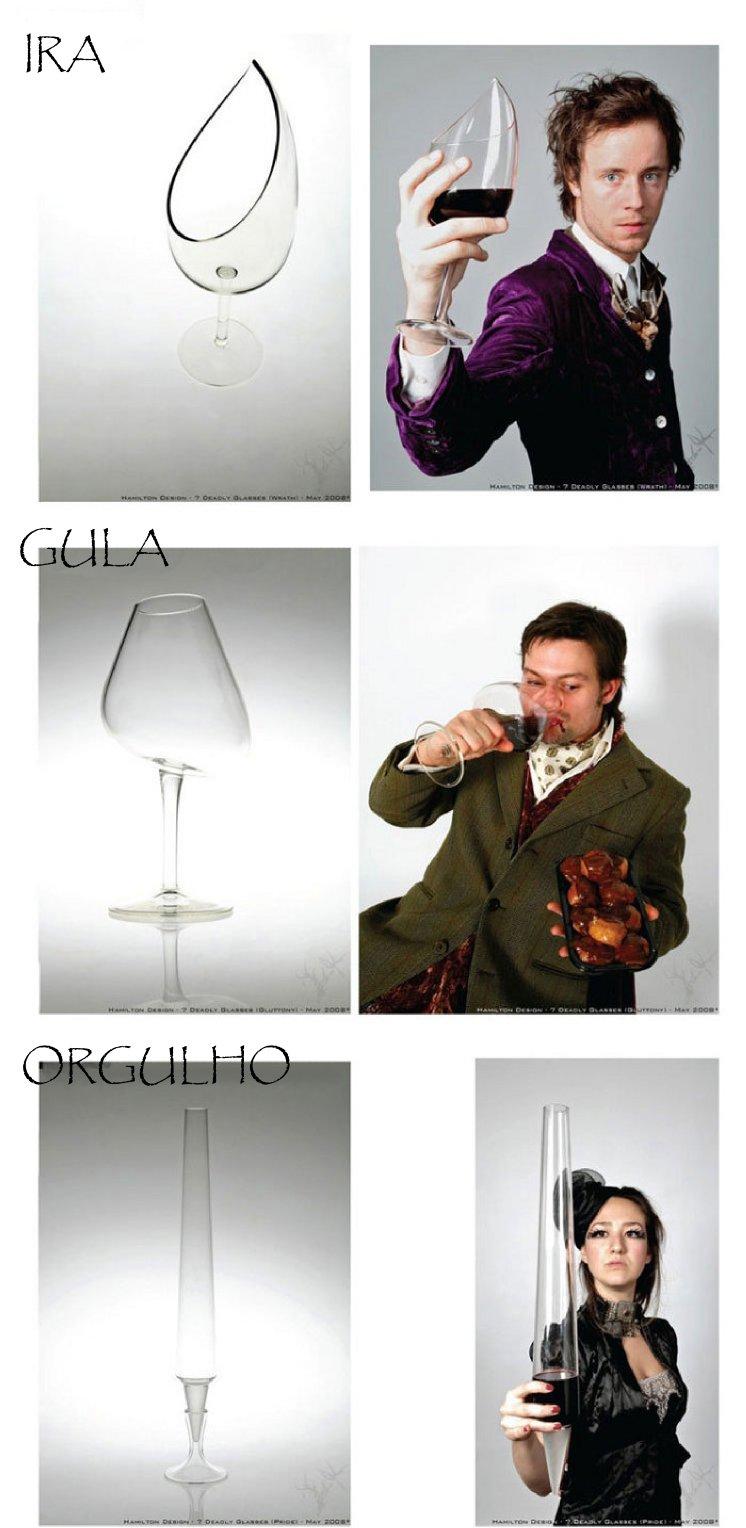 copos de pecados capitais