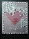 Création personnelle pour la St Valentin en Pergamano
