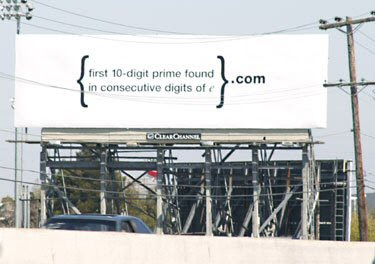 Google billboard
