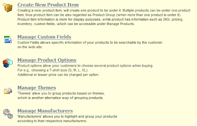 E-Commerce: Manage Product