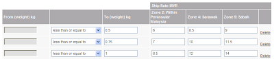 E-Commerce: Calculate Shipping Fee