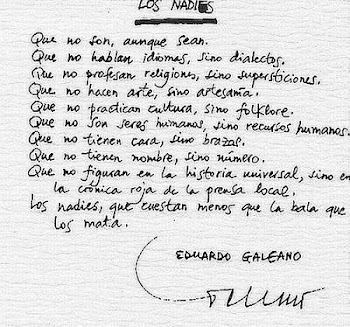 Los nadies - Eduardo Galeano