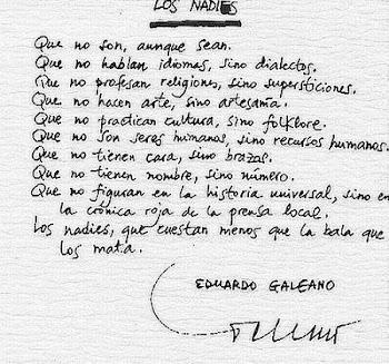 Los nadies - Eduardo Galeano
