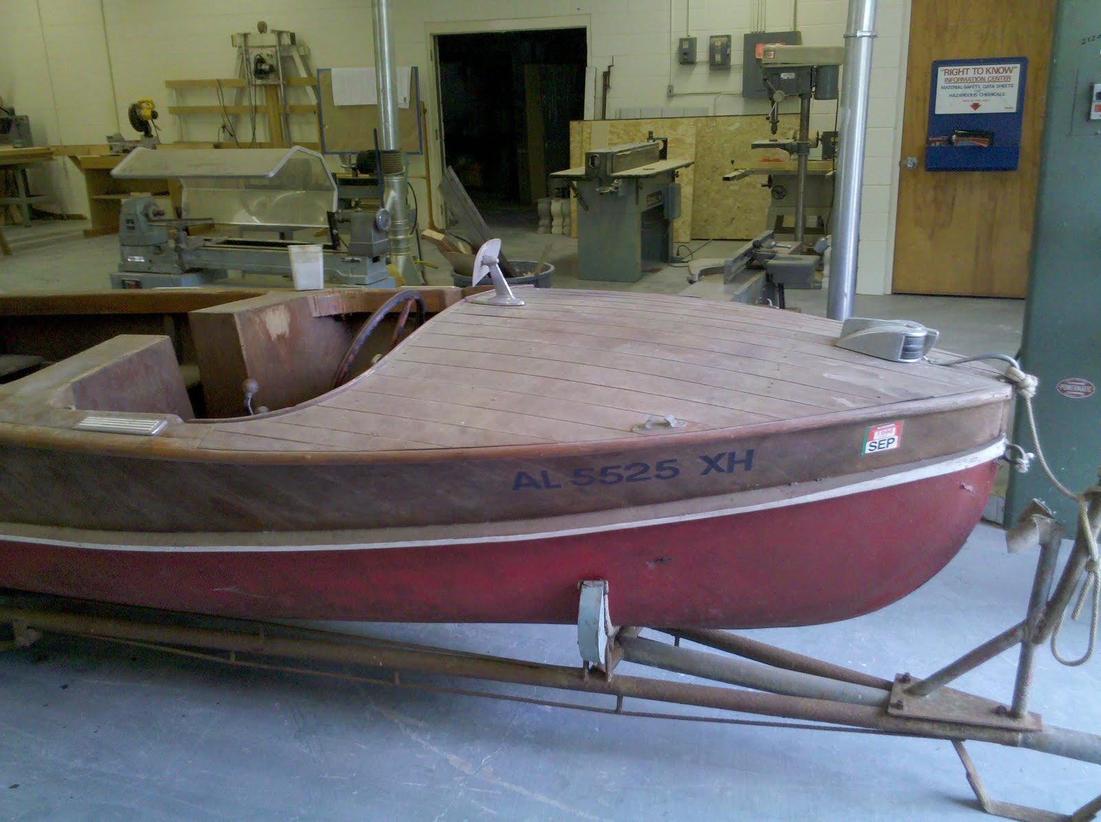 Benchmark woodworks 1950s wagemaker wolverine boat restoration 1 for Boat interior restoration near me