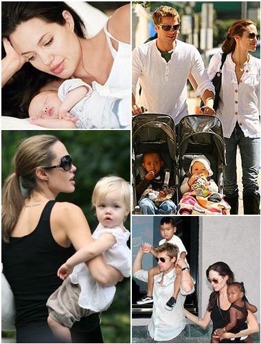 brad pitt and angelina jolie family. Brad Pitt and Angelina Jolie