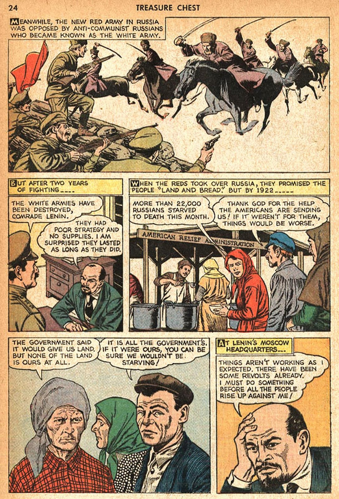 anti communist propaganda reed crandall In blackhawk (quality comics, 1944 series) #71 (december 1953) [with alterations, see notes] indexer notes when reprinted in #71 the last page is removed and the last panel of page 4 is re-lettered.