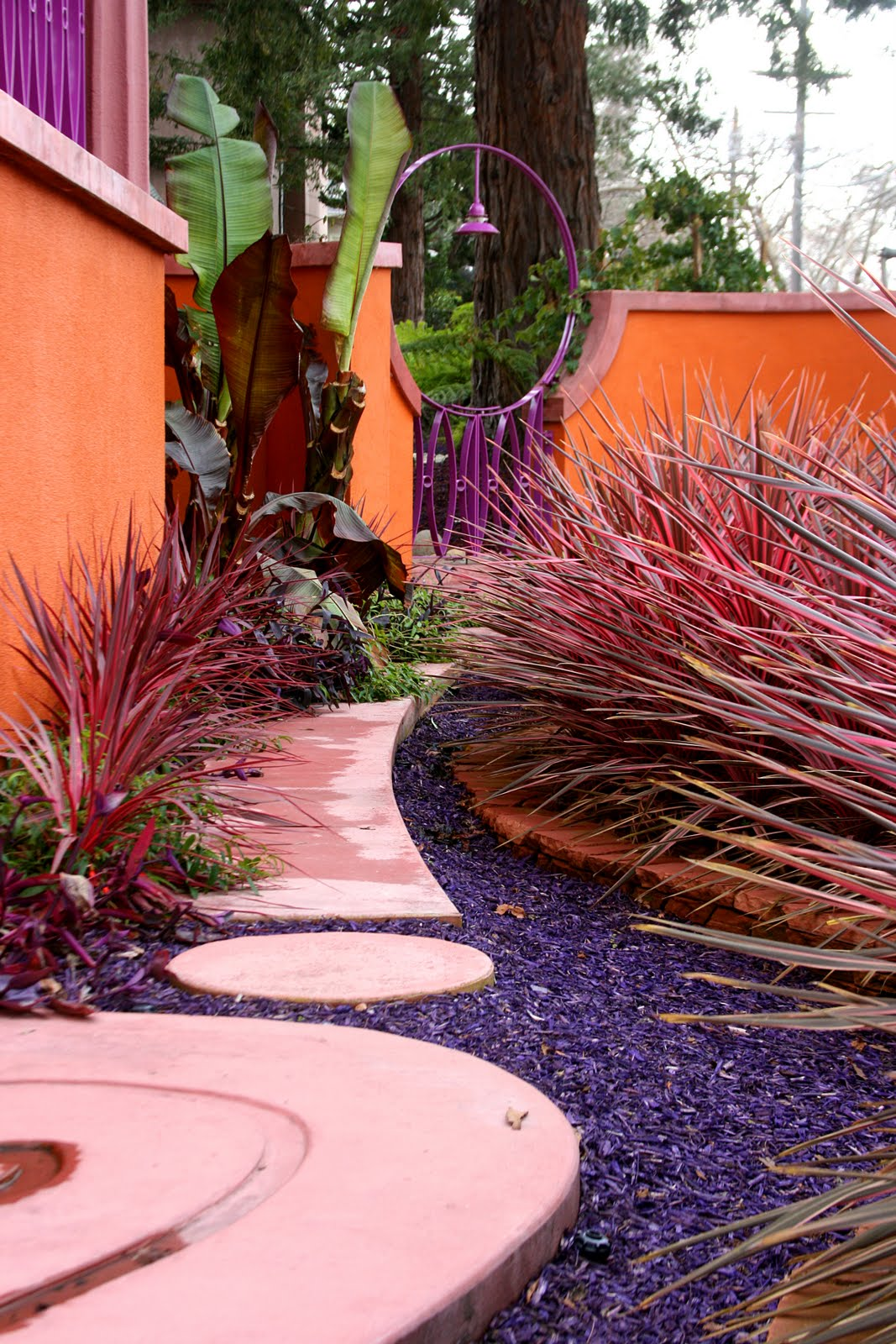 Purple mulch