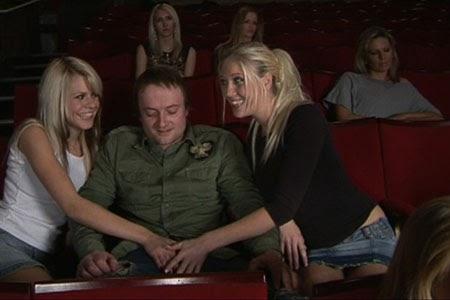 Handjob in the theater
