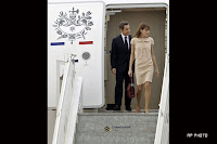 French President Nicolas Sarkozy And first lady Carla Bruni-Sarkozy India Visiting Photos