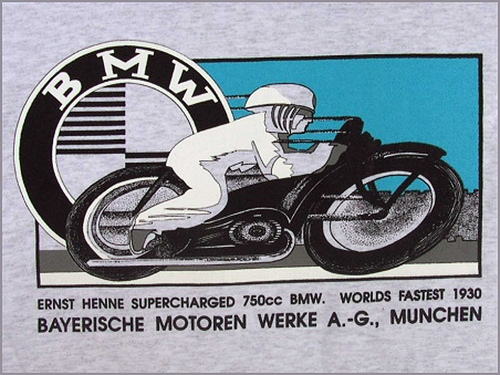 Cafe Beemers  BMW Vintage Posters