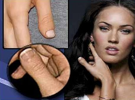 megan fox thumb toes. megan fox thumb toe.