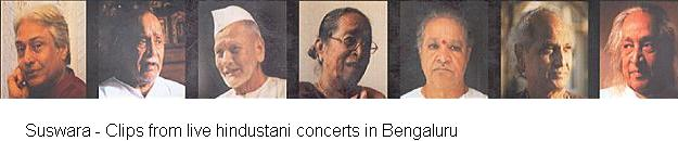 SuSwara - Clips from live hindustani concerts in Bengaluru