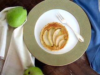 Apricosa: Pear and Almond Frangipane Tartelettes