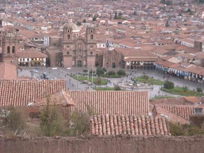 Perou - Ville de Cusco avec la Place d'Armes