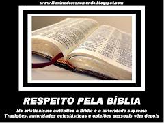 5- Respeito pela Bíblia
