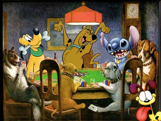 Santa Visual Diary 17 Dogs Playing Poker By Cash