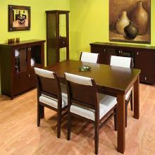 El mueble comedores for Comedores ovalados de madera