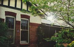 Stary dom australijski. Podobny do tych na ziemiach zachodnich...