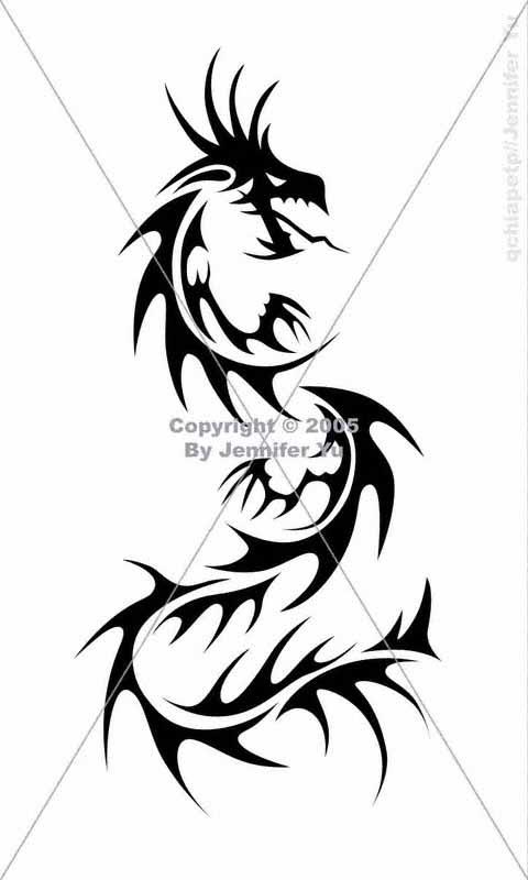 tribal tattoo dragon. tribal tattoo dragon