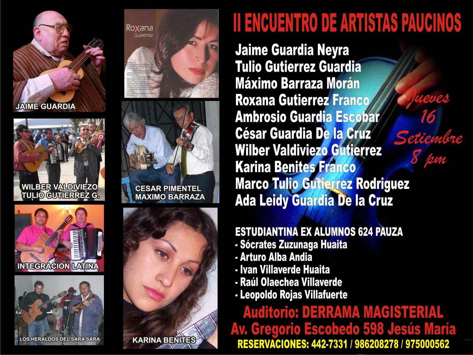 Los Bordones Del Peru Lima Ii Encuentro De Artistas