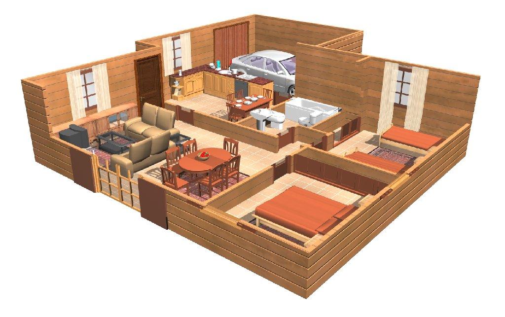 Visualizacion el sena en 3d for Crear planos de casas 3d