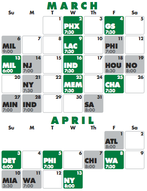graphic about Celtics Printable Schedule named Celtics Lifestyle: 2010/2011 Celtics Timetable