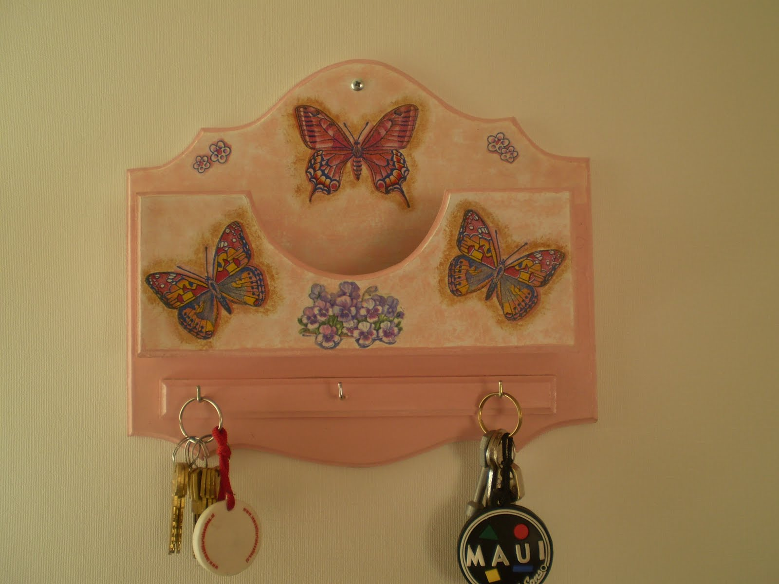 Creaciones tukamama porta llaves y cartas 3 - Porta llaves pared ...