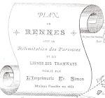 pour visionner le Plan de la Ville de Rennes et ses réseaux de tramway, par P. Rigaud (1897)