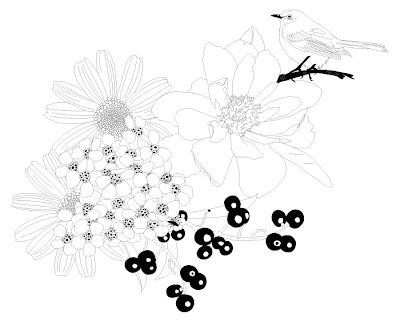 Heather Taylor, Flowers & Bird