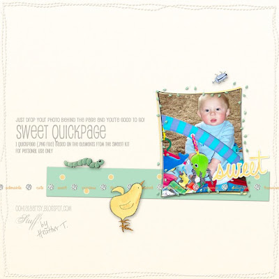 Heather Taylor, Sweet Quickpage Freebie