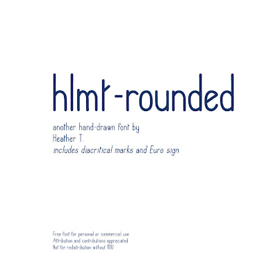 Heather Taylor, hlmt-rounded font preview