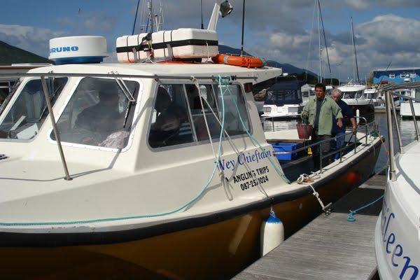 Den Wey Chieftain, eent vun den groussen Fescherbooten vun hei