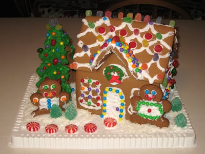 Gingerbread House made on December 24, 2009