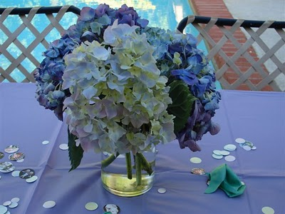 Purple blue green and ivory wedding