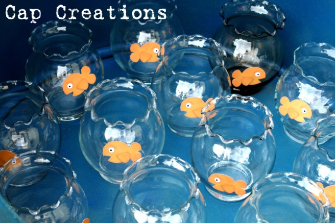 Cap creations diy fish bowl carnival game the tube and now all thats left to do is play the game by trying to throw the ping pong balls in the bowls and win yourself a fish in a bag solutioingenieria Gallery