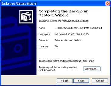 backup windows xp