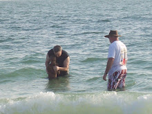 Marcus getting baptized- 6/14/09