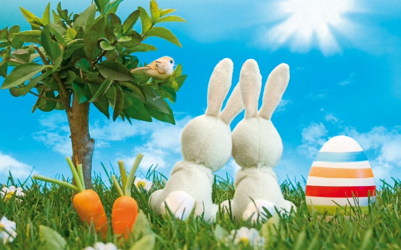 wallpapers word: easter eggs and bunnies high definition wallpapers