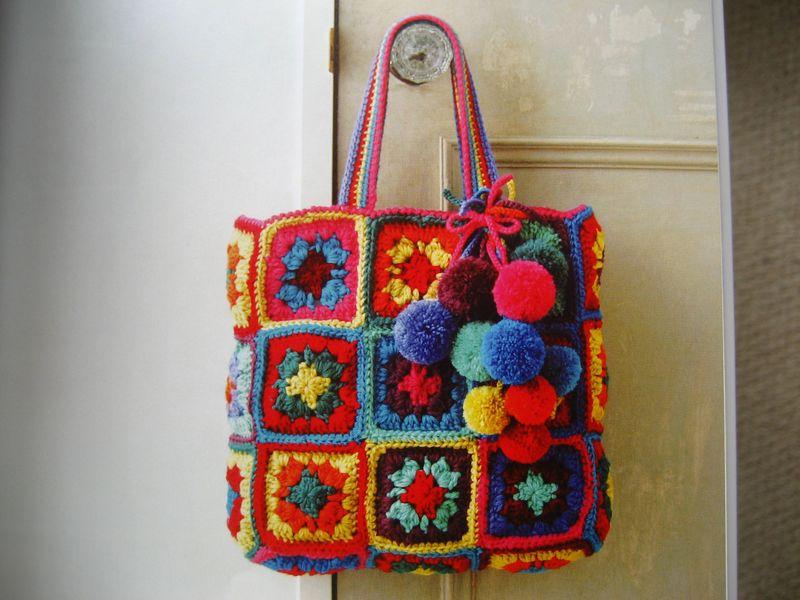 Innovart en crochet a cuadros en toda ocasi n for Manualidades de ganchillo bolsos