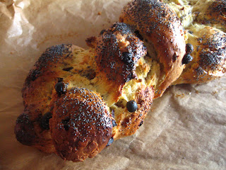 Saffron, Fruit and Nut Christmas Challah by Ng @ Whats for Dinner?