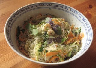 Low fat low cal rice noddle salad by Ng @ Whats for Dinner?