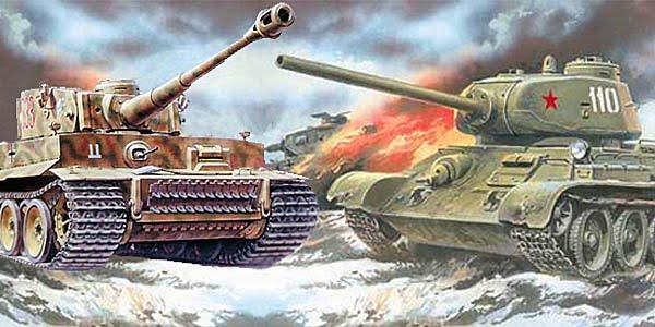 Немецкий танк тигр и советский танк т