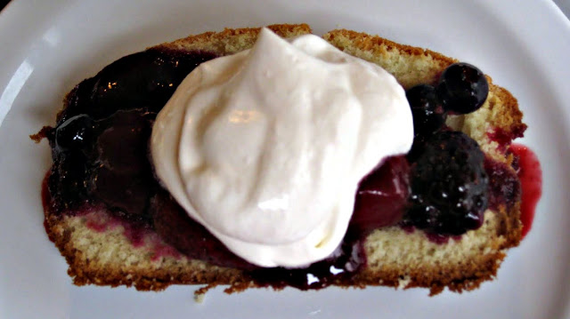 Fresh Berry Compote with Real Whipped Cream l SimplyScratch.com