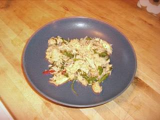 roast chicken and three-rice salad