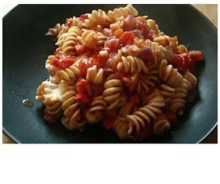 baked tomato & mozzarella pasta