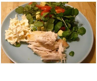 roast chicken & salad