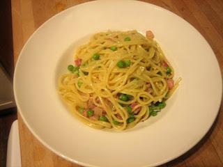 heston's pea & pancetta spaghetti