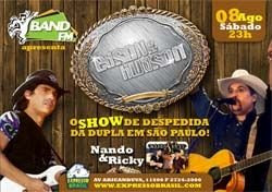 08-08-2009-Expresso Brasil-Despedida-Edson & Hudson