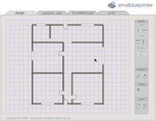 Uma ferramenta on line para desenhar o projeto de sua casa for Smallblueprinter
