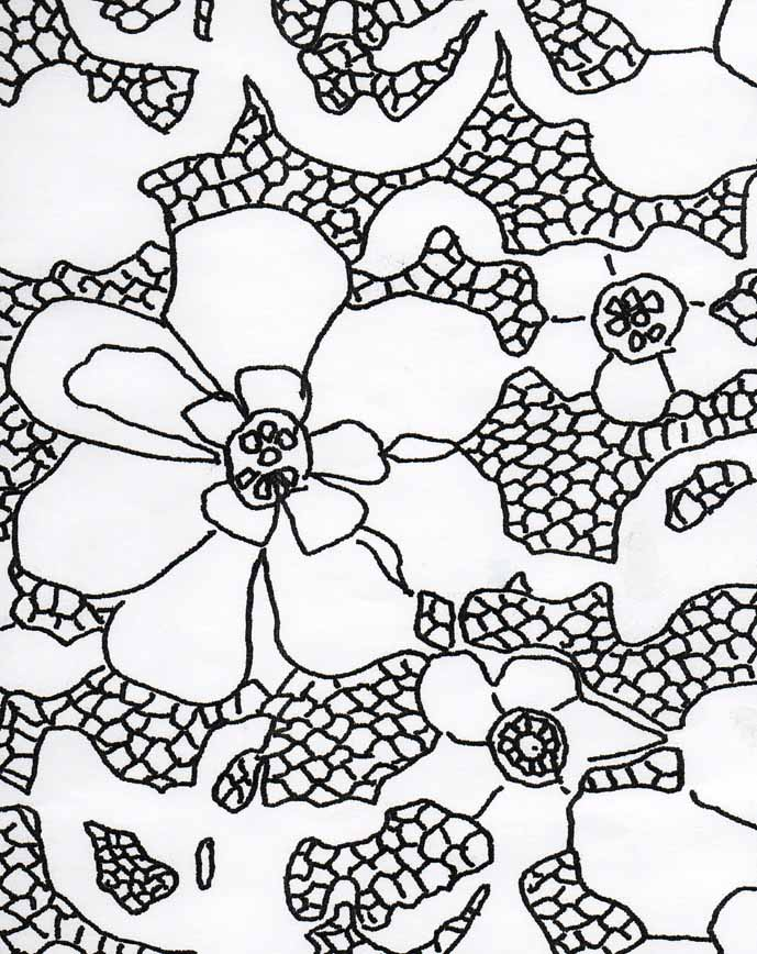 lace drawing pattern - photo #2